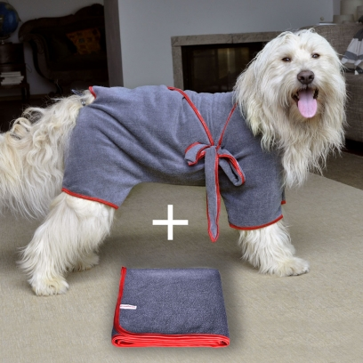 Dog Drying Coat and Towel
